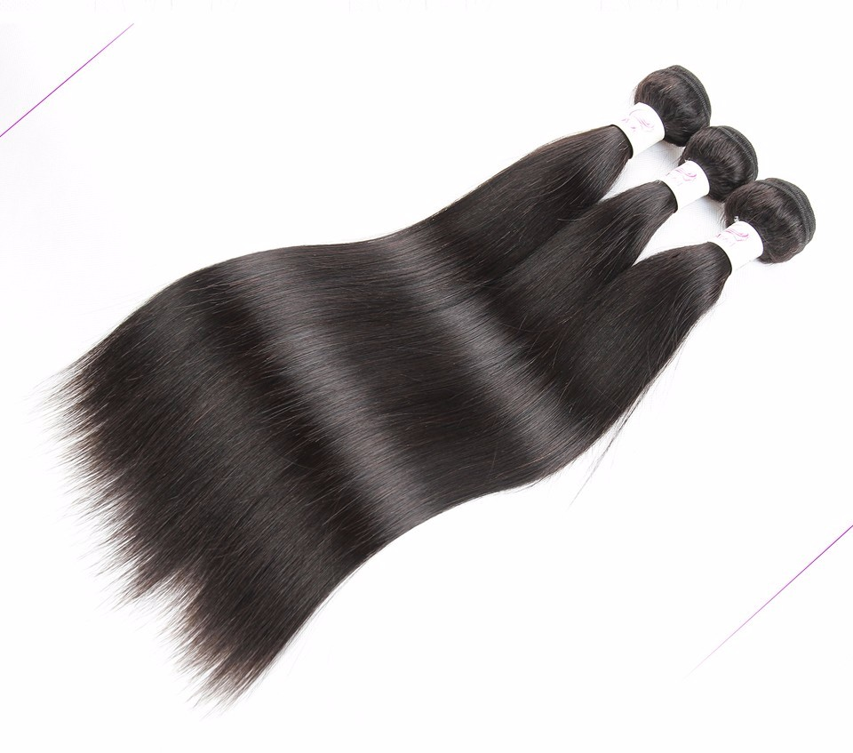 Ariel 1 Bundle Peruvian Straight Hair Wholesale Hair Products In Bulk 8A Virgin Peruvian Hair Bundles Straight Human Hair Weave