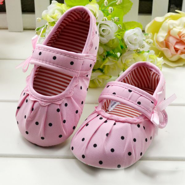 Cute Baby Girl Boy First Walkers Toddler Shoes Boots Multi color Dot Bow Children s Shoes