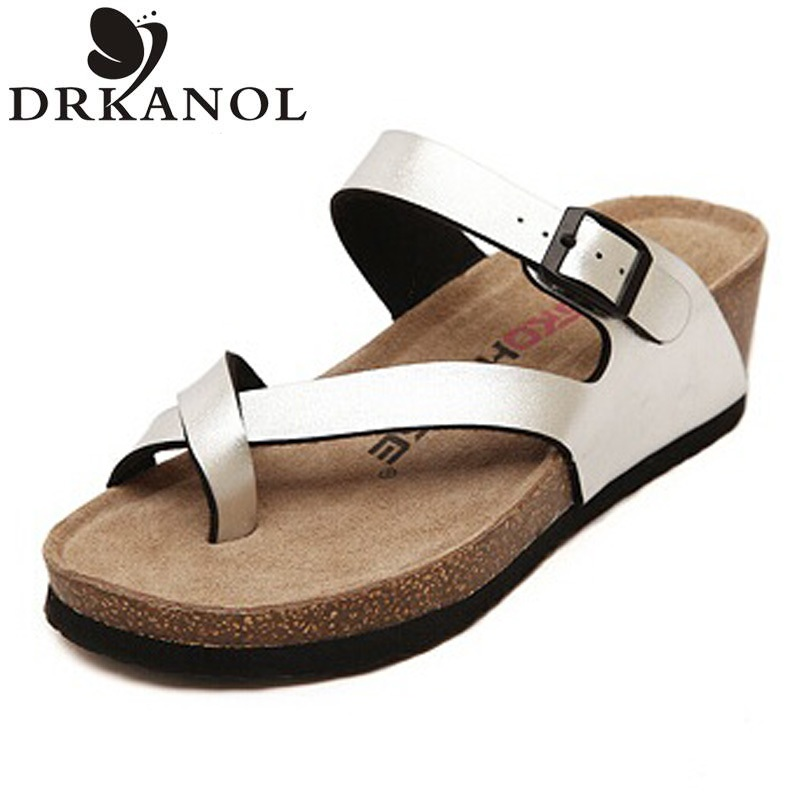 New women wedge sandals 2016 summer slippers women casual shoes high quality comfortable thong platform sandals woman size 35-40(China (Mainland))