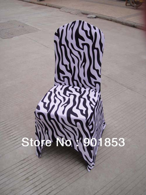 zebra print spandex banquet chair cover with an arch(China (Mainland))