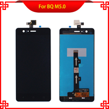 High Quality LCD Display Touch Screen Digitizer Assembly For BQ Aquaris M5 M5.0 5.0 Tested Mobile Phone LCDs Free Tools