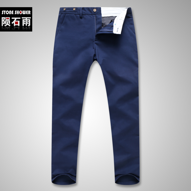 Hot-selling Men's Fashion Korean Style Slim Fit Design Pants Male Casual Mid-Waist High Quality Pants(China (Mainland))