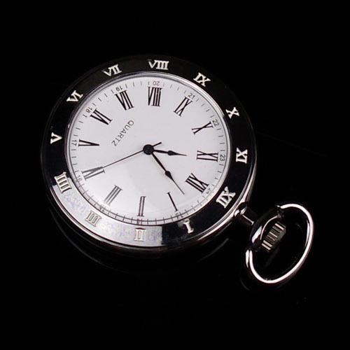 simple Casual vintga black Roman capitals large quartz pocket watch for men women steampunk long necklace pendant 10 pcs/lot(China (Mainland))