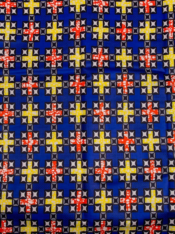 African Queen Fabrics Super Deluxe Wax Royal Blue Cross Stars Wedding sw448711(China (Mainland))