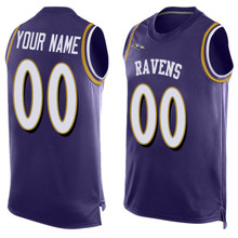 Men's Ronnie Kamalei Stanley Correa Joe Justin Flacco Forsett Jimmy Justin Smith Tucker Customs Name & Number Tank Tops!(China (Mainland))