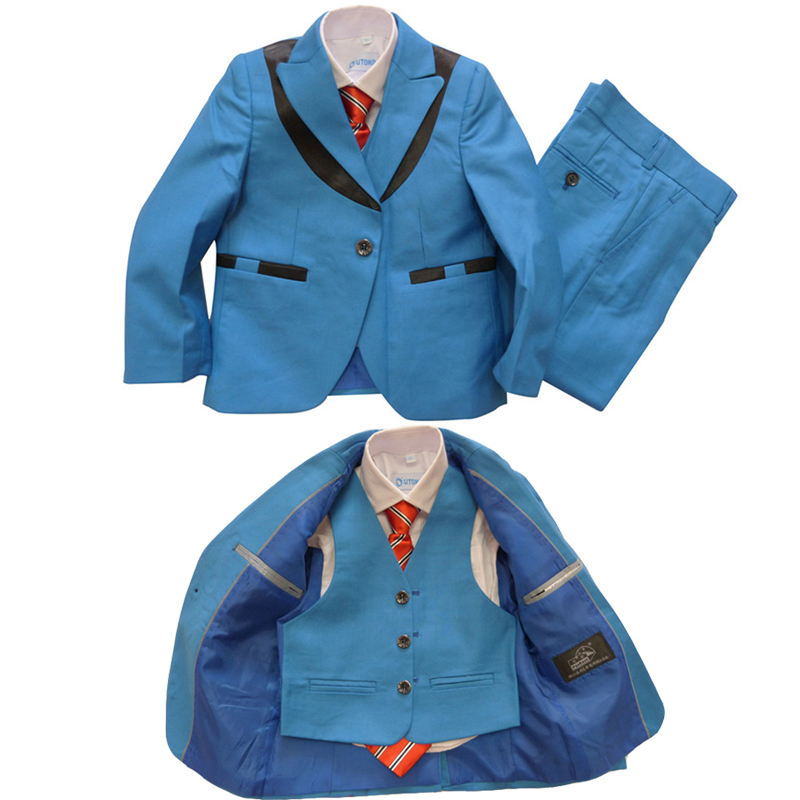 Boys Blazers kids Blazer jacket set Boys Wedding dress 3 piece Blazers suits for Children tuxedo suit 3 piece terno infantil(China (Mainland))