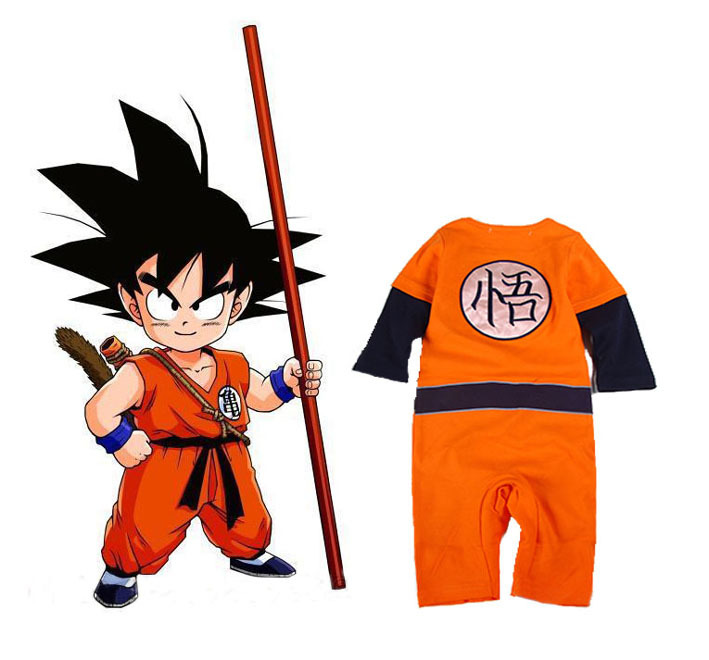 Dragon Ball Z cosplay Son Goku baby boy girl costumes jumpsuit baby cotton rompers cute kids long sleeve siamese trousers Одежда и ак�е��уары<br><br><br>Aliexpress