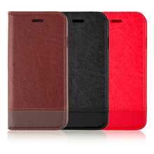 "Genuine Leather Case for Iphone6/6s 4.7"" Card Holder Stand Design Wallet Flip Cover Business Man Mobile Phone Bag free shipping(China (Mainland))"