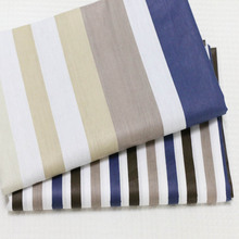2 meters width 160cm 100% cotton twill white/blue/khaki modern style stripe DIY for bedding clothes quilting handwork tela cloth(China (Mainland))