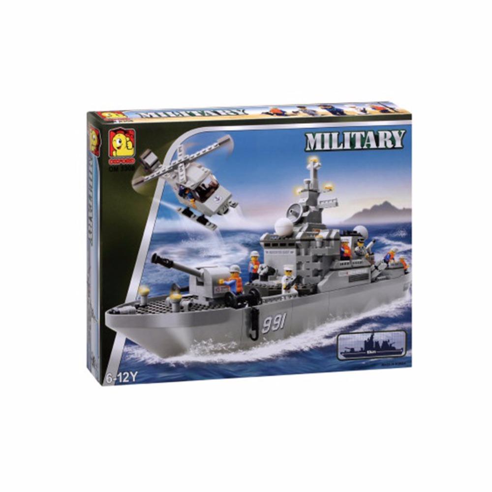 Oxford Blocks Huge Battleship Military Style Building Construction Set OM3308 651 Pieces(China (Mainland))