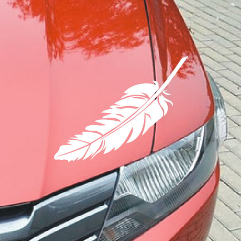The car door stickers car stickers from scratch individual body decoration activities Lahua waterproof feathers stickers(China (Mainland))