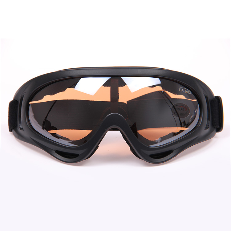 In stock for 2014 freeshipping The motorcycle goggles windproof glasses windproof mirror colored optional orange lense(China (Mainland))