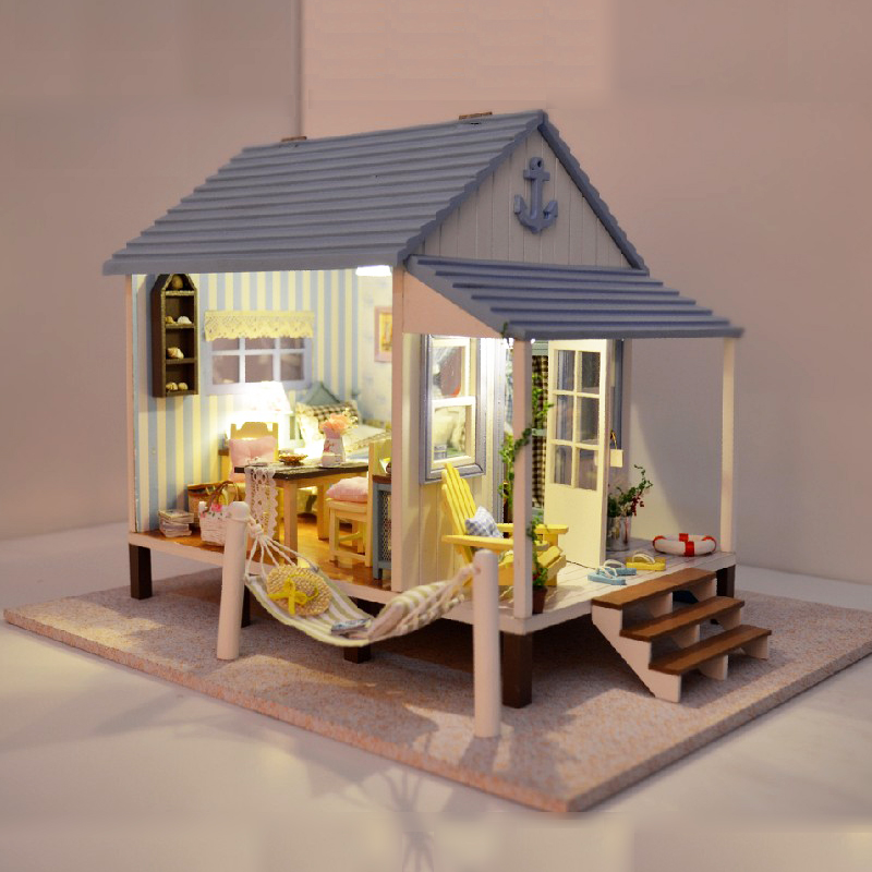 Diy Wood House 3d Home Dollhouse Cute Furniture Handmade