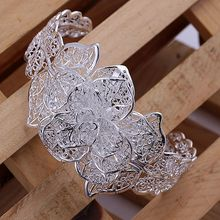 LKNSPCB164 925 jewelry silver plated  bangle bracelet, silver plated vogue jewelry Flower Bangle /apcajgja axbajoia