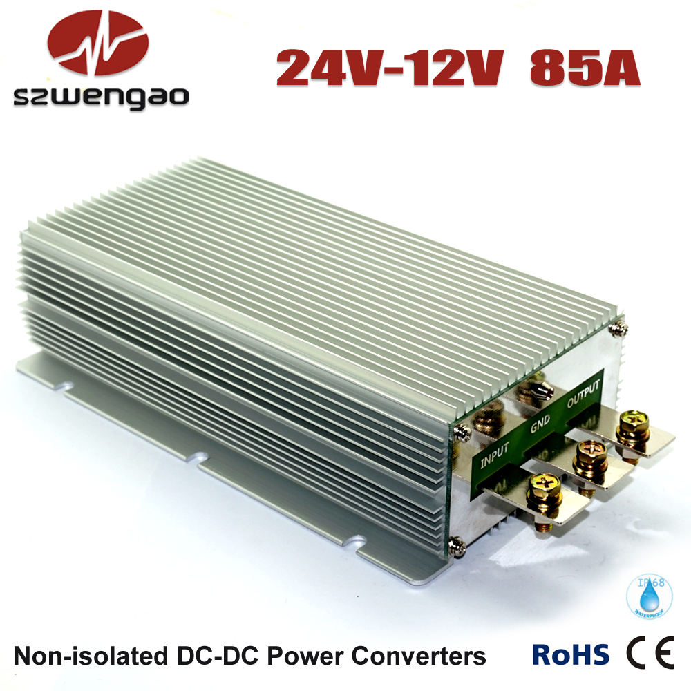 Wengao @ High Efficiency Voltage Reducer 24 Volt to 12 Volt 85A DC/DC Converter 1000W Step Down DC-DC Regulator(China (Mainland))