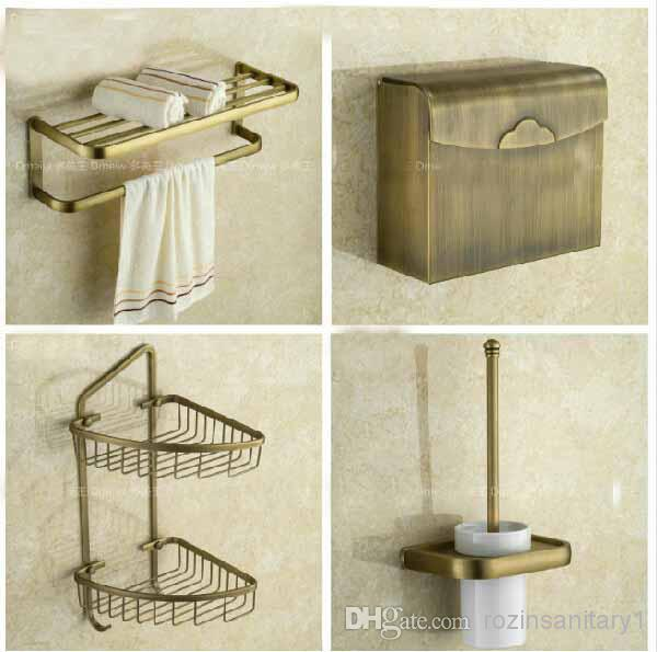 Euro style antique brass bathroom accessories set bath for Fashion bathroom set