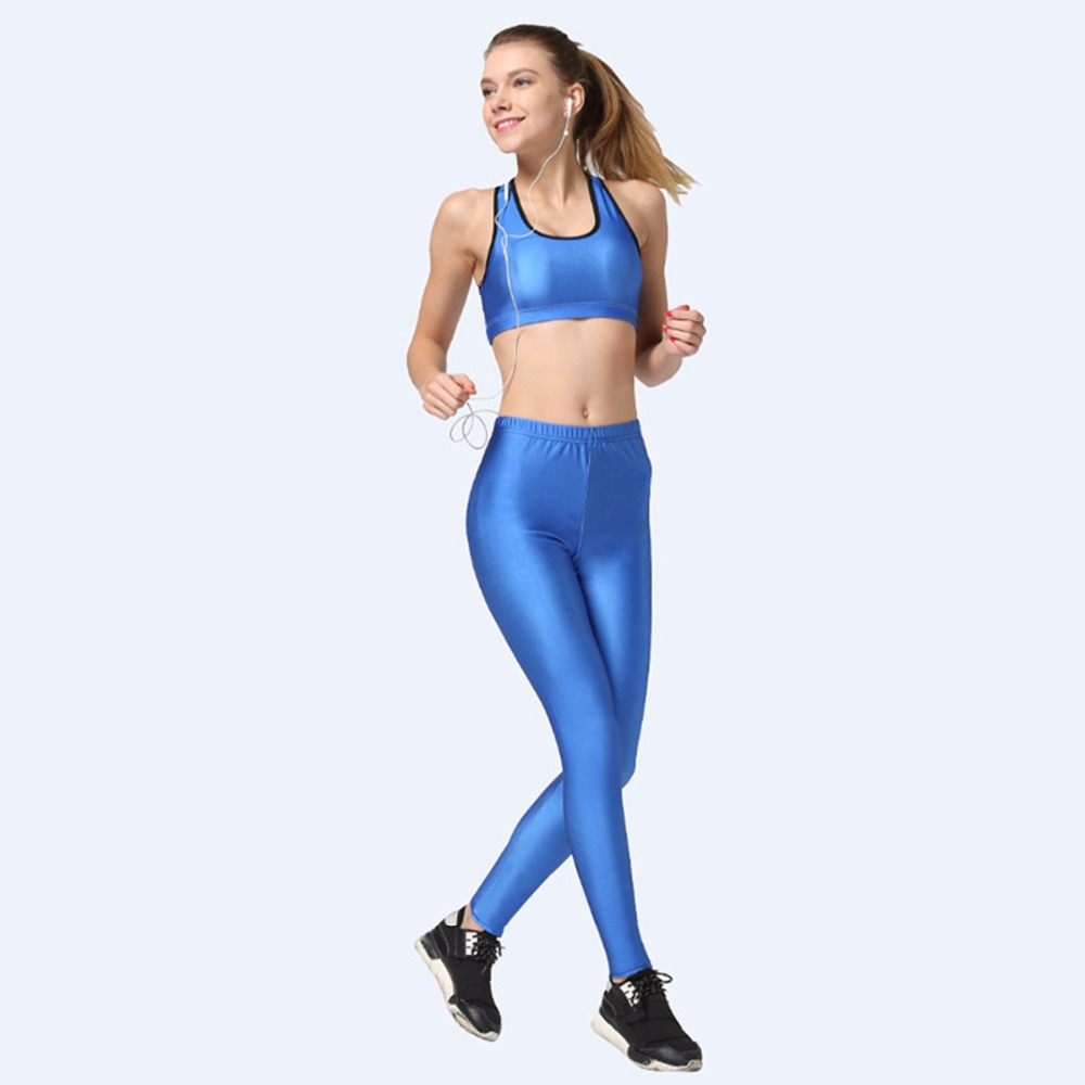 Womens Fitness Yoga Pants Ladies Girls Sexy Gym Sports Tights Leggings Blue Fit Keep Yoga Pants Workout Leggings Sports Pants(China (Mainland))