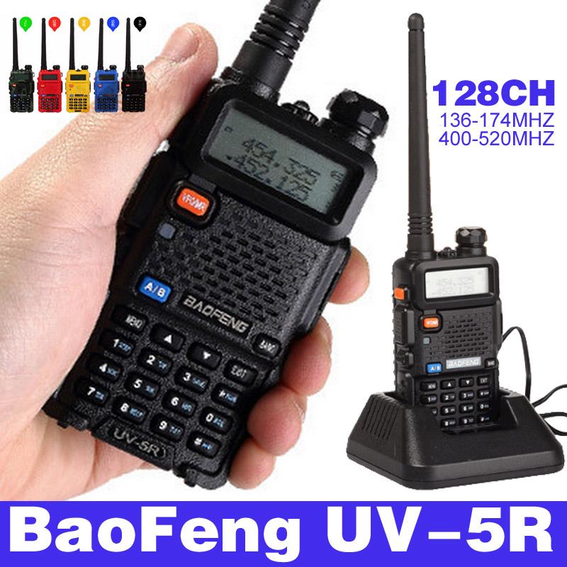HOT Portable Radio Walkie Talkie UV-5R Baofeng for CB radio vhf uhf dual band 136-174 400-520MHZ ham radio station baofeng uv 5r(China (Mainland))