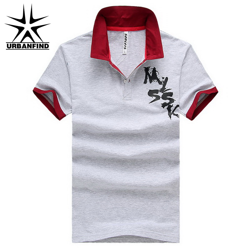 URBANFIND Fashion Men Summer Cotton Polo Shirts Size M-2XL Outdoor Breathable Turn Down Collar Man Casual Short Sleeve Tops(China (Mainland))