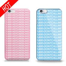 New Arrival Design Hotline Bling Drake Cellphone Case For Iphone 5 5s 6 6s Fundas PC Hard Skin Phone Cover Capinhas