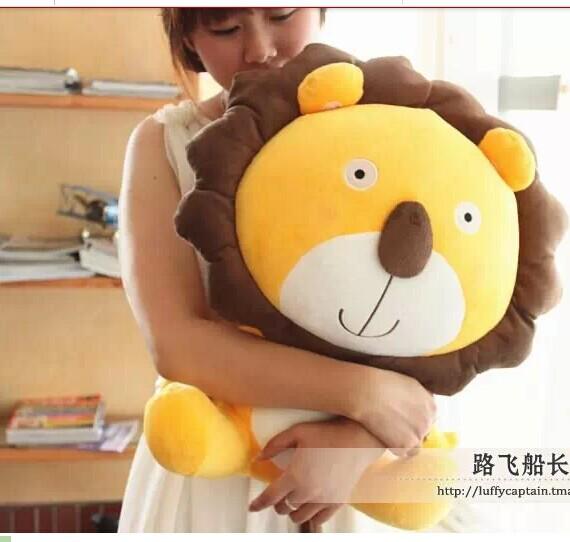 lovely stuffed animal lion toys plush toys cartoon leo lion doll birthday gift yellow about 50cm(China (Mainland))