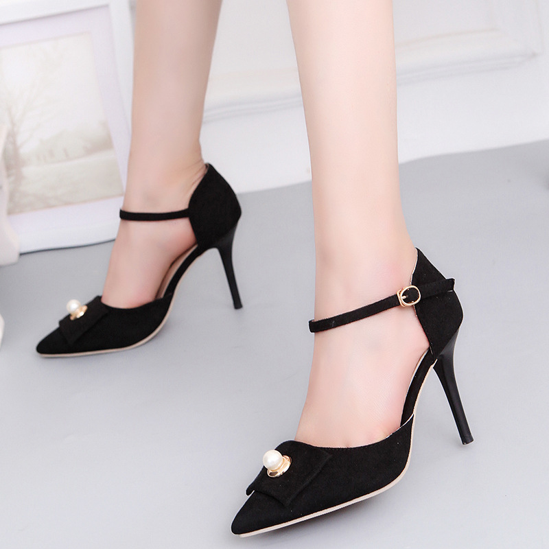 2017 Elegant Women Pumps High Heels Pointed Toe Sexy Women Shoes Soft  For Lady High Heel Office Shoes tenis feminino 9 cm