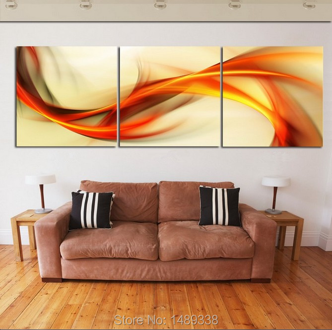 Modern home decoration Printed Canvas printing painting 3 piece wall art framed T/256 - Dafen store