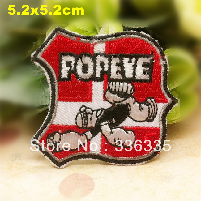 """Free Shipping 10 pcs/lot Japanese cartoon """"Popeye the Sailor"""" series DBX Embroidered patch iron on Motif Applique DIY accessory(China (Mainland))"""