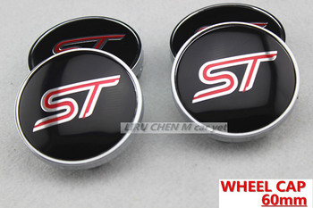 Free shipping 60mm ST for car tuning universal Wheel Center Caps Hub Cover emblem Badge car styling Auto accessories 4pcs/lot