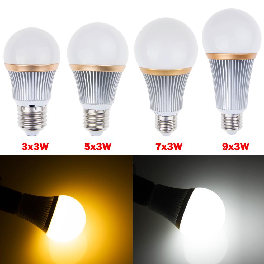 Led Lamp Bulb 9W 15W 21W 27W E27 Led Light Lighting High Brightness Dimmable 110V 220V Warm/Cold White Lampada Led Bombillas(China (Mainland))