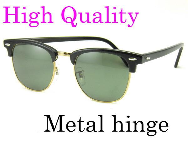 High Quanlity Metal hinge Sunglasses 3016 clubmaster glasses Plank black Sunglasses 3016 black sun glasses men's Sun glasses(China (Mainland))