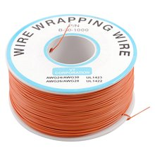 IMC Hot PCB Solder Orange Flexible 0.5mm Outside Dia 30AWG Wire Wrapping Wrap 1000Ft(China (Mainland))