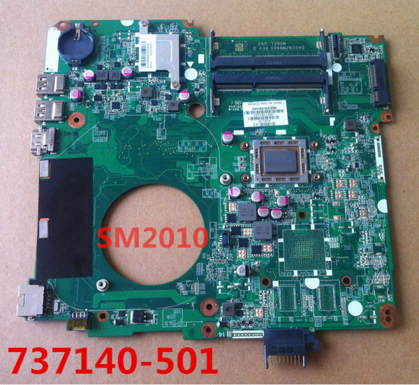 Материнская плата для ПК For hp HP 15 15/n 737140/501 737140/001 AMD mainboard DA0U92MB6D0 U92 for Pavilion 15N 731534 001 731534 501 for hp pavilion 17z e100 17z laptop motherboard a4 5000 cpu onboard ddr3 da0r76mb6d0
