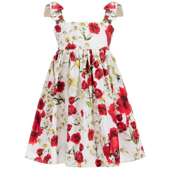 Wlmonsoon платье девушки летом 2016 малышей платья мак цветочные дети платья для девочек одежда халат Fille Enfant 3-12Y