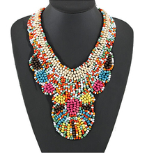 SPX4931New Fashion Bohemian Bead Big Collares fashion necklaces for women Body Jewelry(China (Mainland))
