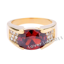 Victoria Wieck Cool Jewellery Ruby 10KT Yellow Gold Filled Wedding Band Ring Sz 5-10 Free shipping(China (Mainland))