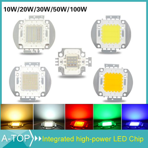 Ultra Bright 10W 20W 30W 50W 100W LED Bead Chip For High Power LED Floodlight Lamp Warm White / White / Red / Green / Blue / RGB(China (Mainland))