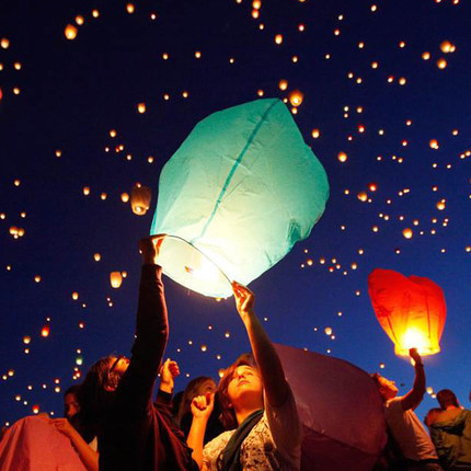10pcs Colorful Paper Chinese KongMing Latern, Sky Lantern, Fly Candle Lamp for Party Wedding Decoration(China (Mainland))