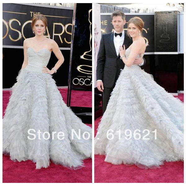 Se70 Elegant shoulder floor-length a-line tulle celebrity dress 2013 Special Occasion Evening Dresses - Romantic Wedding Dress Online store
