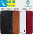 Nillkin Qin genuine real Flip Leather case cover for Google Huawei Nexus 6P Mate 8