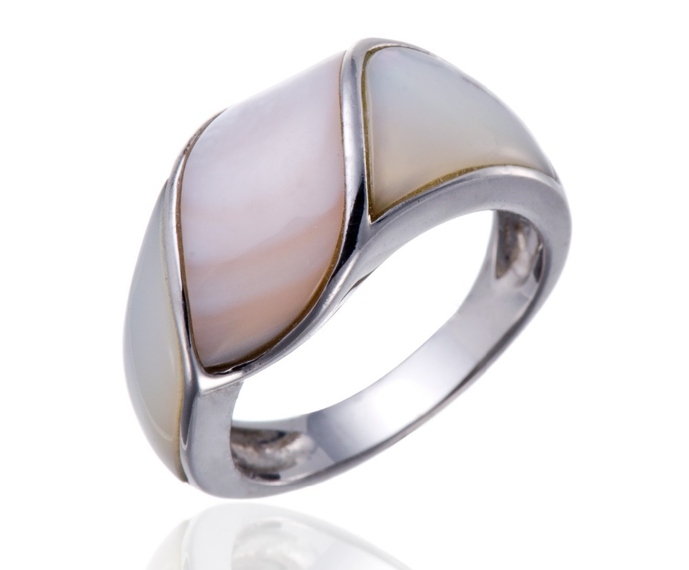 Pink and White Mother of Pearl Solid Pure 925 Sterling ...