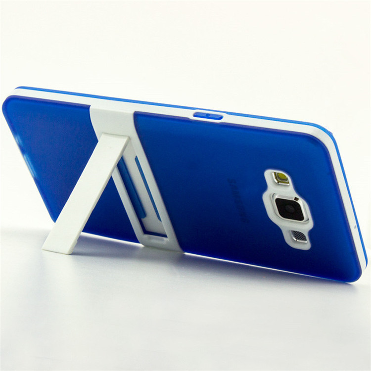 luxury silicone tpu 2 IN 1 case samsung galaxy A5 A500 original back cover holder stand - March_e-store store