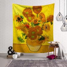 Цветок картина маслом psychedelic гобелен хиппи экзотическая печать гобелен полиэстер Мандала настенный домашний декор(Китай)