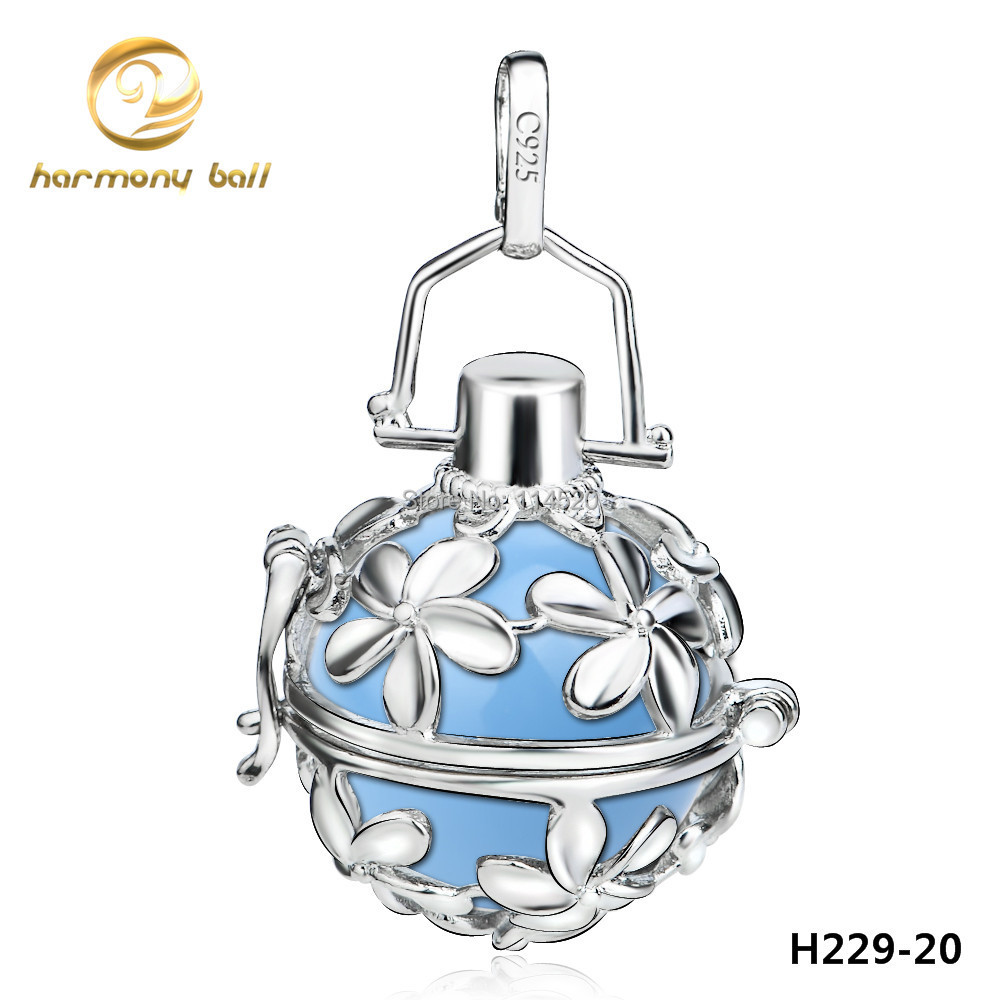 H229-20 20*18mm Great Copper Paltinum Plated Flower Locket Harmony Ball Angel Caller Pendant For Pregnant Women(China (Mainland))