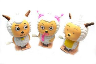 Free shipping clockwork winding  hapy sheep safe energy best gift educational toys 30pcs/lot =10set