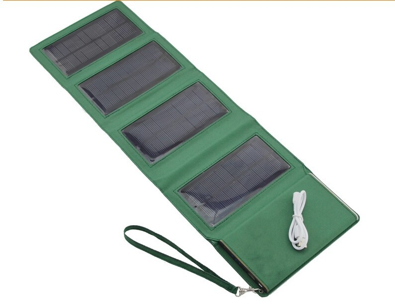 30pcs/lot portable Charger 8000mah solar Power Bank External battery Solar power storage folding bag for laptop customized logo(China (Mainland))
