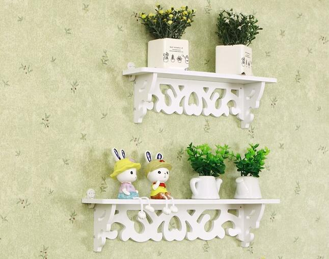 1pc/lot White Wall Hanging Shelf Goods Convenient Rack Storage Holder Home Bedroom Decoration(China (Mainland))