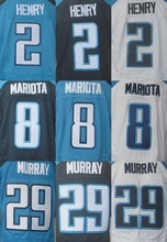 Best quality jersey,Men's 8 Marcus Mariota 29 DeMarco Murray Stitched elite jersey,White,Navy Blue,Light Blue,Size M-XXXL(China (Mainland))