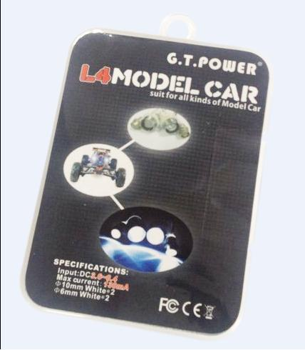 G.T.Power L4 / L8 / L12 Model Car LED Light Suit for All Kinds of RC Model Car F13043/5(China (Mainland))