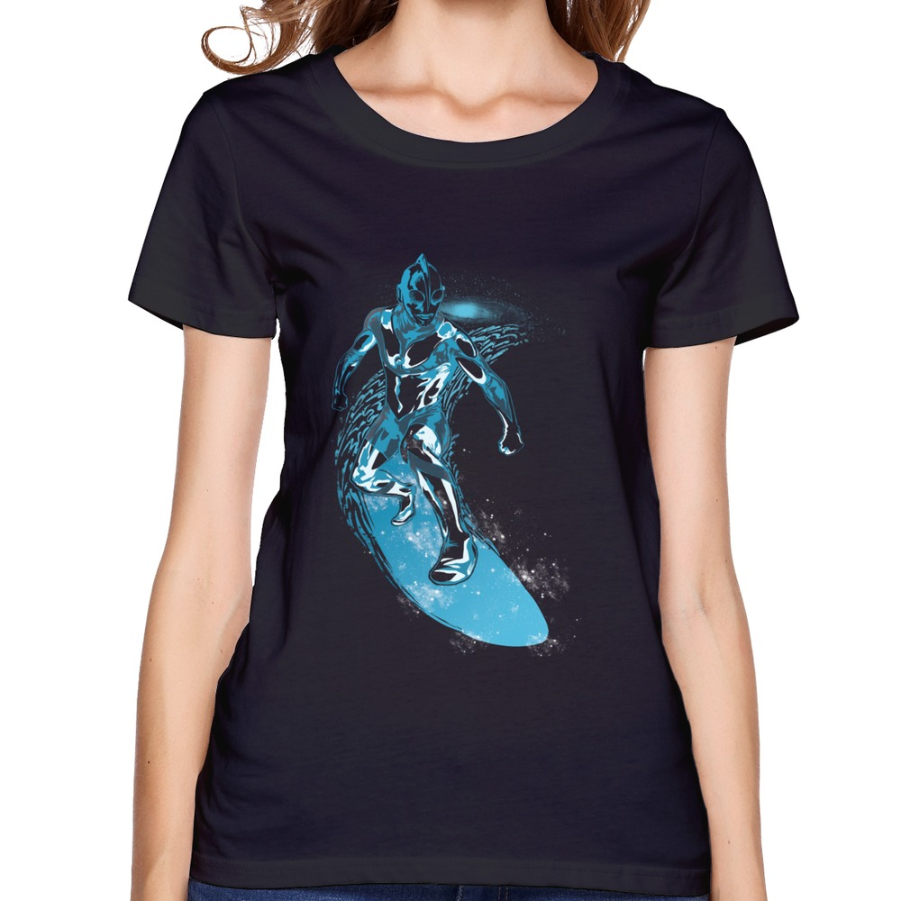 2015 100 Cotton Cosmic Surf Women 39 S T Shirt Popularl